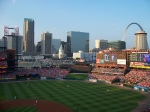 St. Louis Skyline from inside the stadium